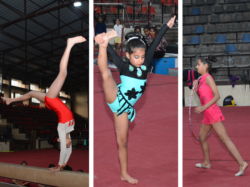 Gymnastics Competition at War Hero Memorial Stadium, Ambala Cantt